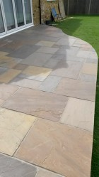 Indian sandstone in mixed brown cut to shape