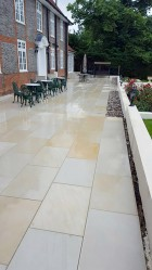 New 200m Sawn Sandstone Patio with steps in Harrow