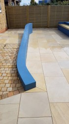 Garden design using sawn sandstone - Uxbridge