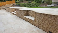 220m smooth sandstone patio in Gerards Cross Buckinghamshire